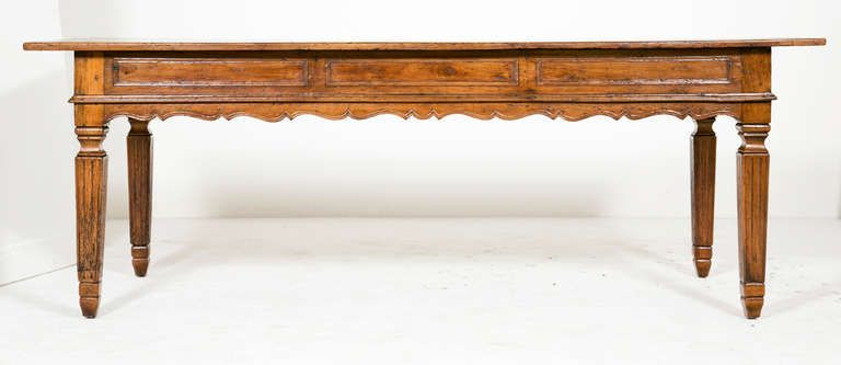 Italian Farm House Table | From a unique collection of antique and modern farm tables at http://www.1stdibs.com/furniture/tables/farm-tables/