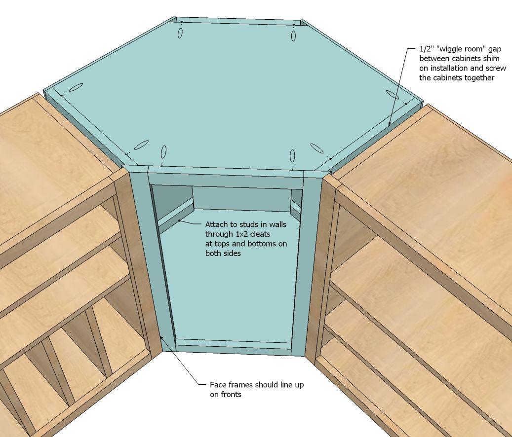 Corner Base Cabinet Plans