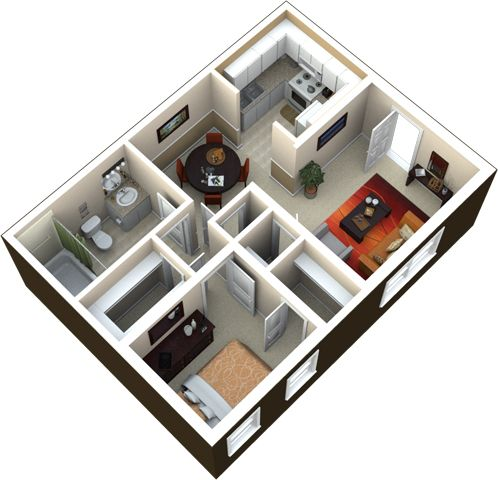 1 Bedroom 1 Bath 700 Sq Ft Rent 580 00 Details This Is A Great Floor Plan Description Our One Bedroom House Plans Home Building Design How To Plan