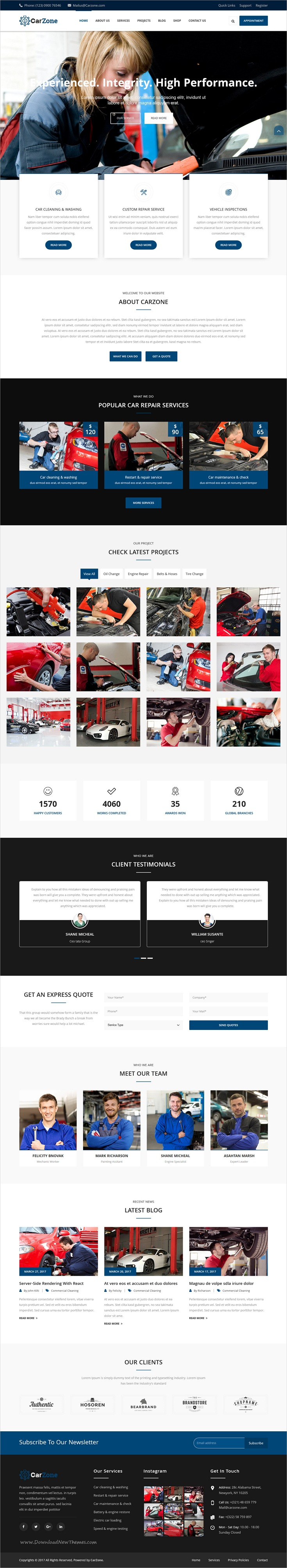 Car zone is clean and modern design responsive bootstrap template for auto mechanic