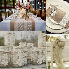 rustic wedding table linens | burlap and lace wedding inspiration it s  indisputable magic happens