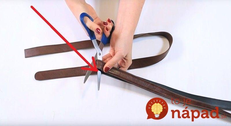 Šikovná žena vám ukáže skvelý tip, ako využiť starý opasok: Pozrite sa, prečo je dobré rozstrihať ho na kúsky!