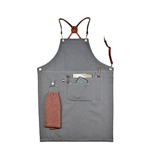 Waterproof and Protective Tool Apron Adjustable Shoulder and Waist Padded Straps Heavy Duty Oxford Canvas Shop Apron with Pockets Multiple Pockets to Organize Your Tools Teepao Work Apron