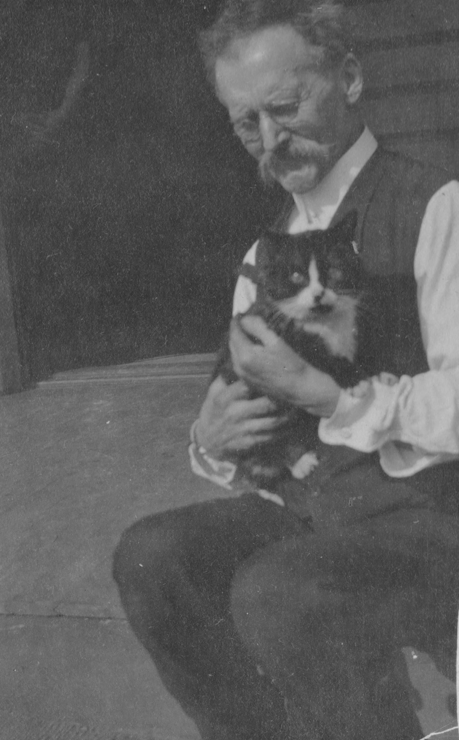 """A dapper fellow and his cat - """"Whiskers 1911"""""""