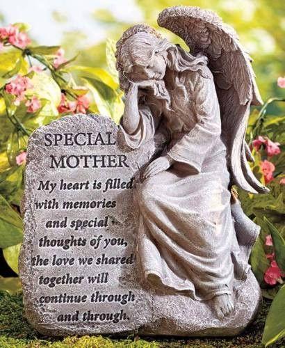 Memorial Garden Plaque Stone Angel Sentiments Poem Heaven Ceramic Remembrance