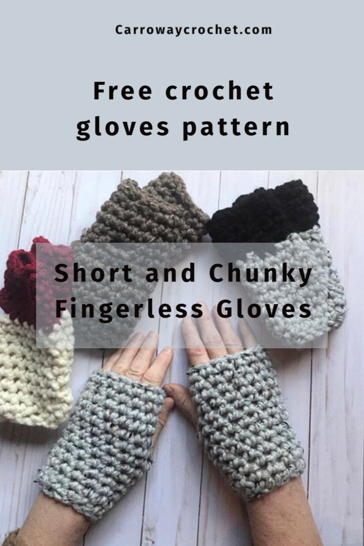Free Pattern The Short And Chunky Fingerless Gloves Carroway Crochet Gloves Pattern Fingerless Gloves Crochet Pattern Crochet Fingerless Gloves Free Pattern