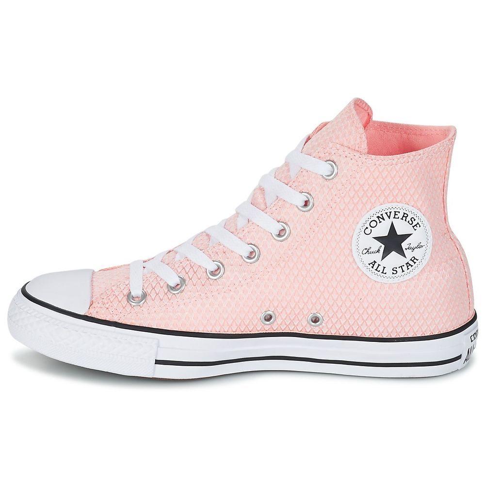 234f85cdfa5d CONVERSE Chuck Taylor All Star Seasonal Pink Snake Woven Hi Top Sneakers  9.5 11  Converse  HiTopTrainerBoots