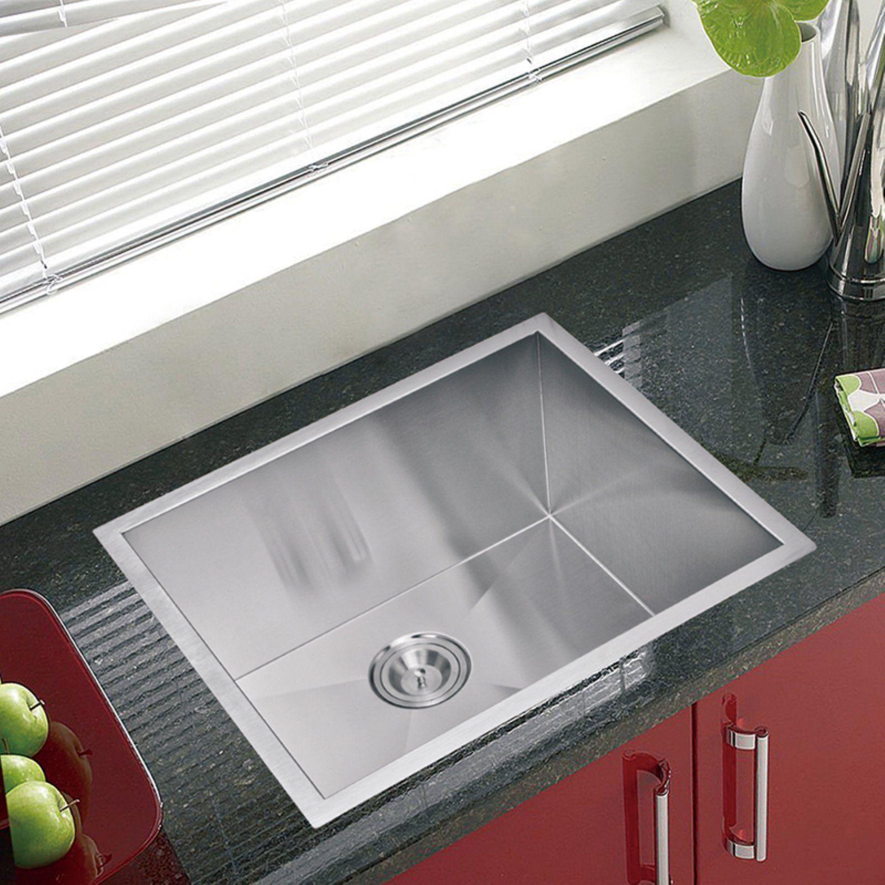 Water Creation Sssg Us 2320a Single Basin Undermount Kitchen Sink