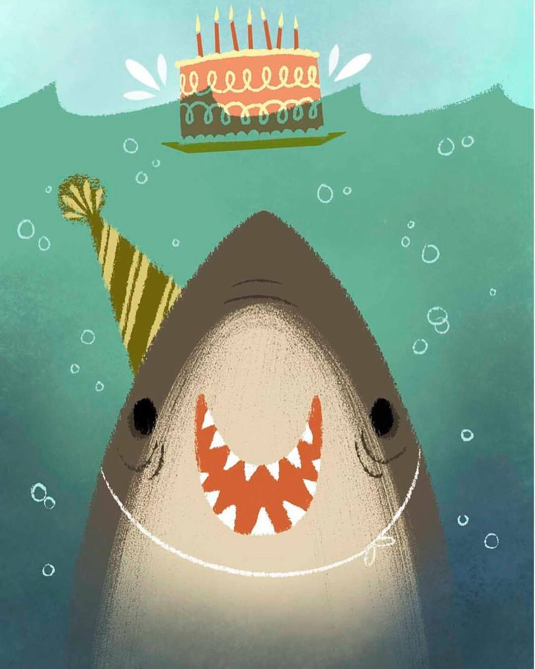 An older piece but in honor of #sharkweek :) #illustration #art #kidlitart #artistsoninstagram #shark #jaws