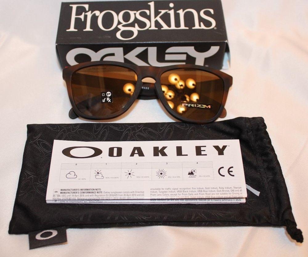 49cb718706 AUTHENTIC Oakley Frogskins Matte Tortoise W  Prizm Tungsten Lens OO9013-C555   fashion