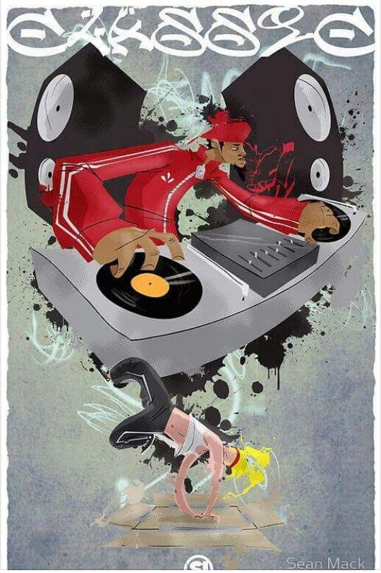 Pin By Danielle Blackwell On Black Art And Other Blackbeautifullness Turntables Art Hip Hop Art Dj Art