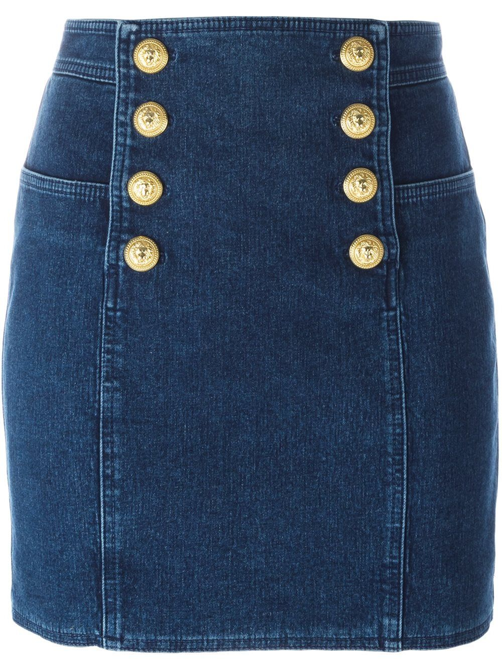 40bbe34432 Balmain button detail mini skirt | wear it in 2019 | Mini skirts ...
