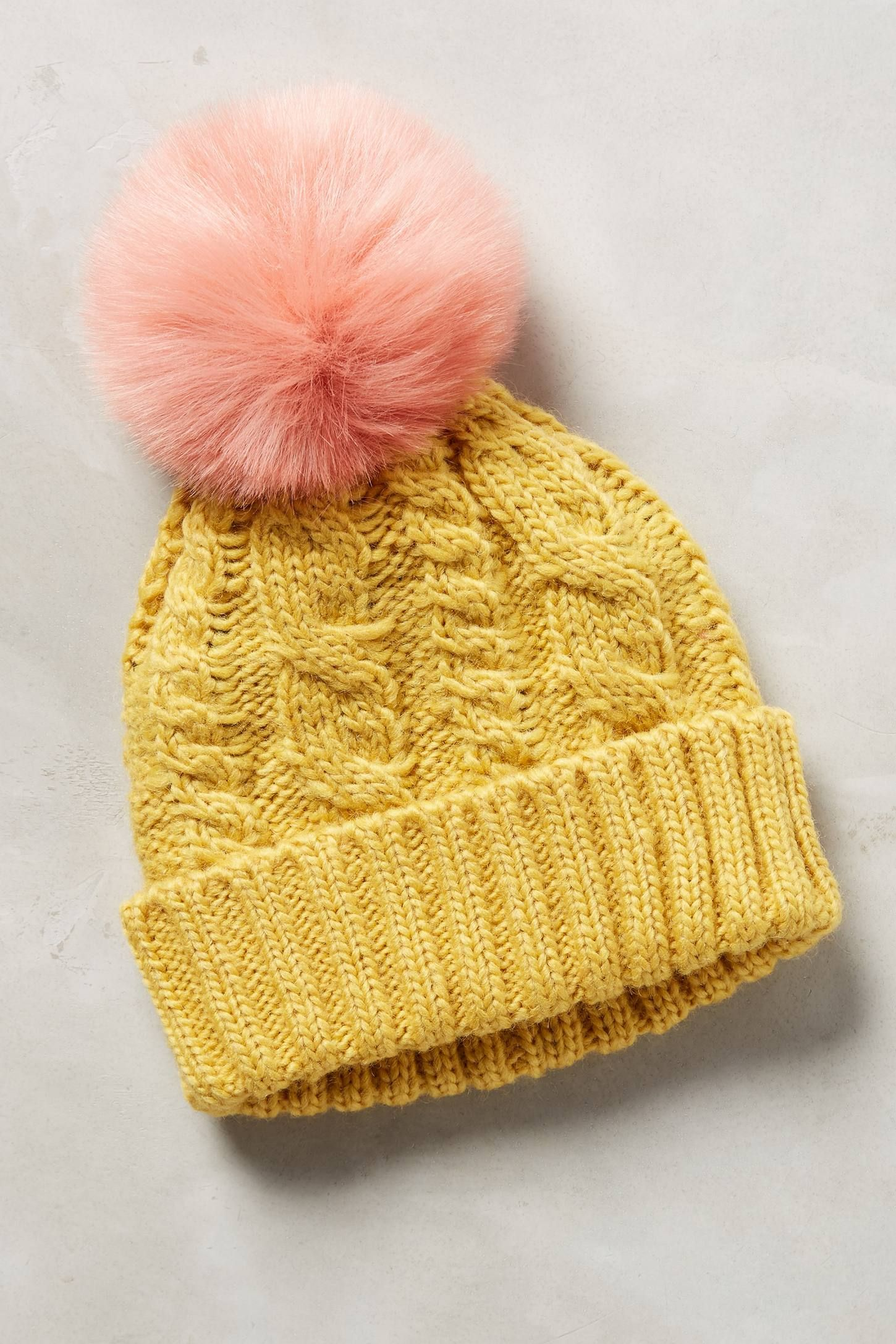 0b037454b Anthropologie Sidonie Pom Beanie | Hats,... | Knitted hats, Beanie ...