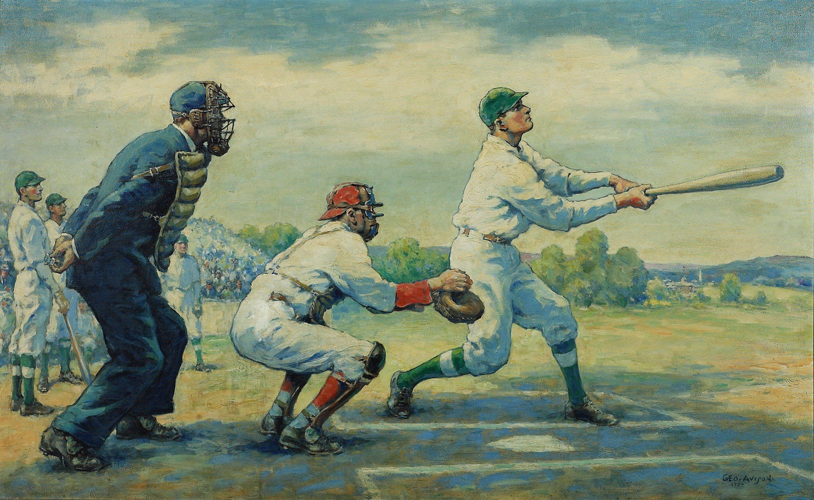 W.P.A. mural by George Avison (1934) Norwalk, CT City Hall | Sports ...