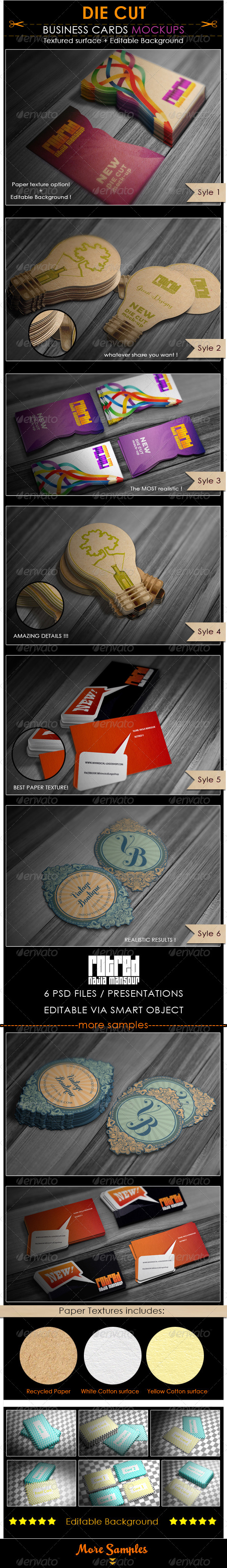 Die cut business cards mockup awesome mock ups pinterest die cut business cards mockup reheart Images