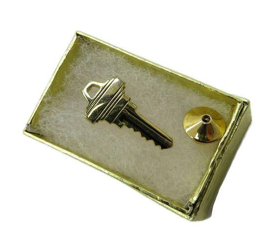 Solid Gold Tie Tac TieTac Retro Mid Century MODERNIST Lapel Pin Gold Ascot Pin Gold Lapel Pin SALE 10K Smokey Quartz
