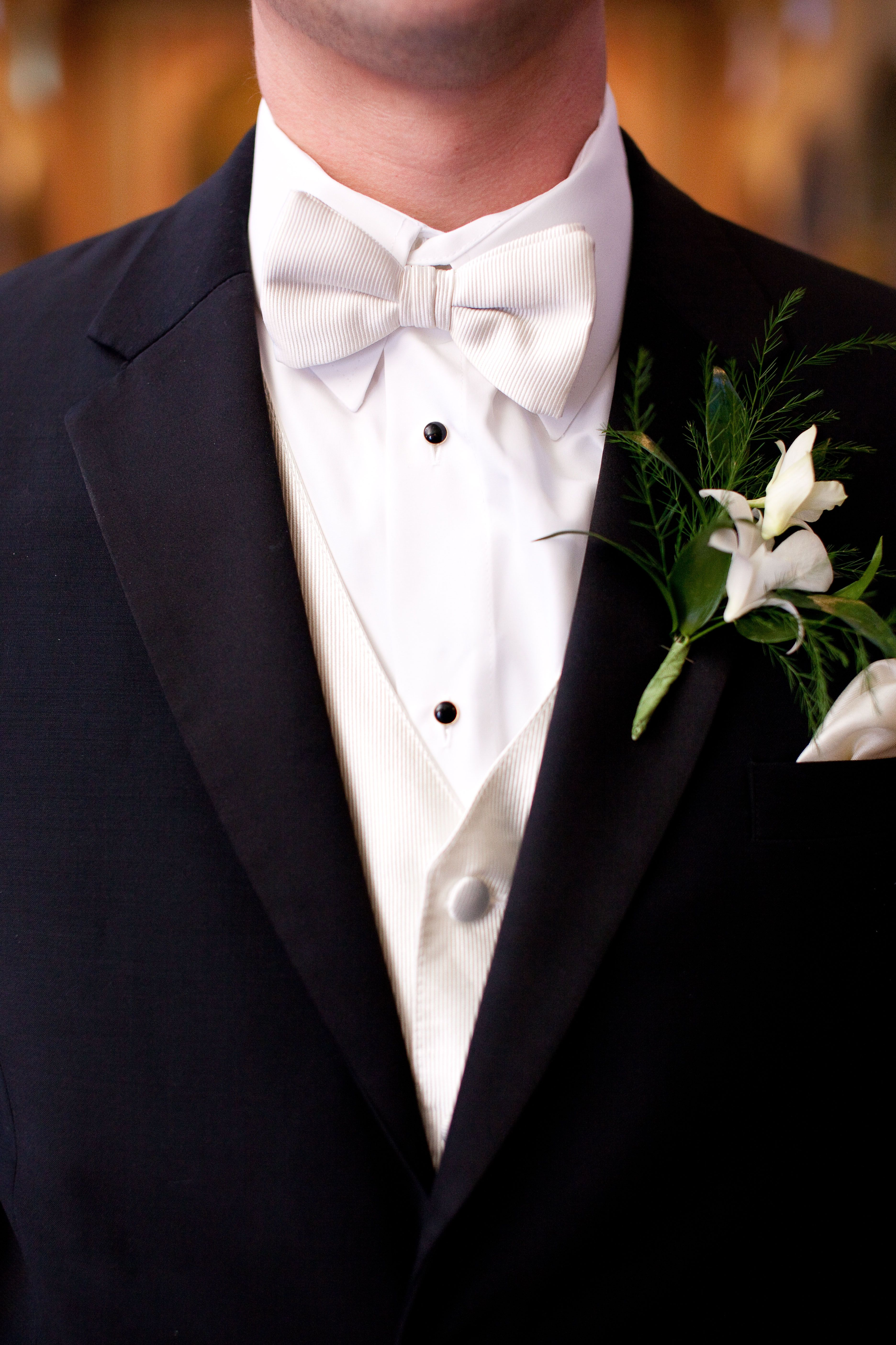 Groom in Black Tux with White Bow Tie | Wedding Ideas! | Pinterest ...
