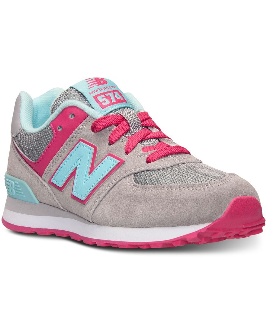 0c33150a New Balance Girls' 574 Casual Sneakers from Finish Line | Shoes ...