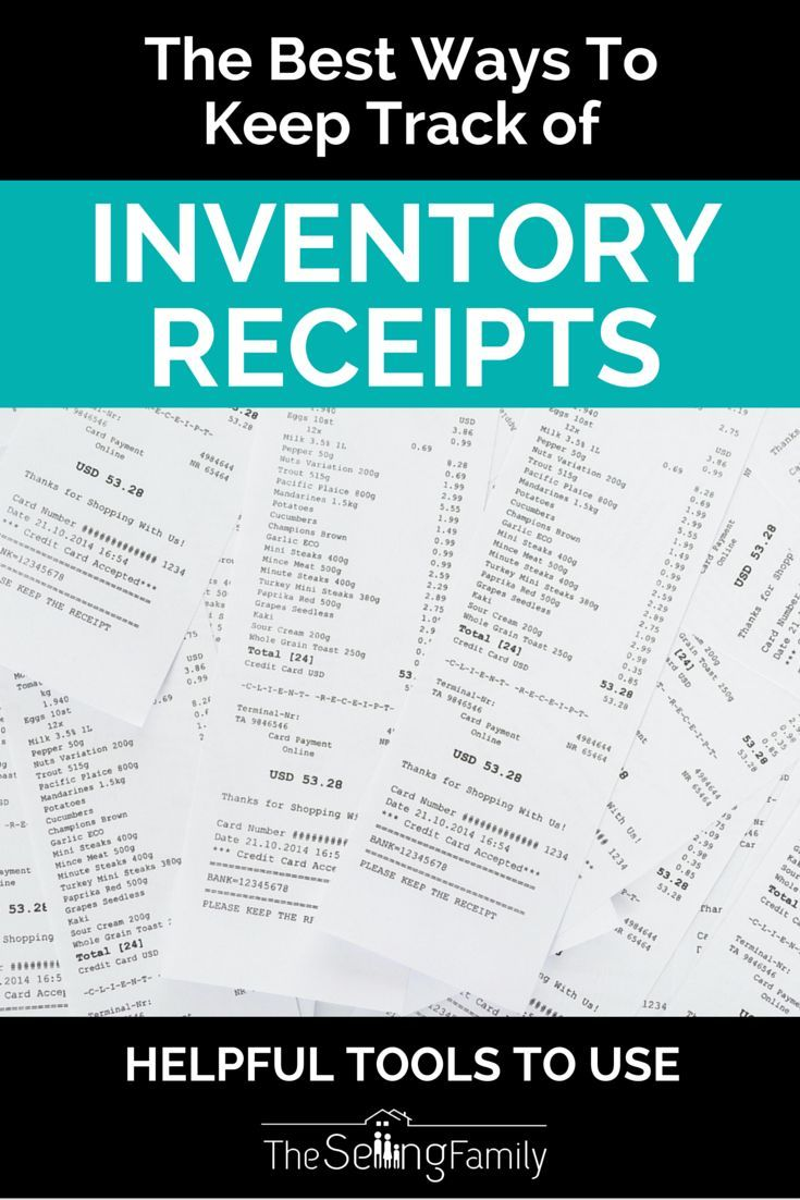 best ways to keep track of inventory receipts for taxes blogging