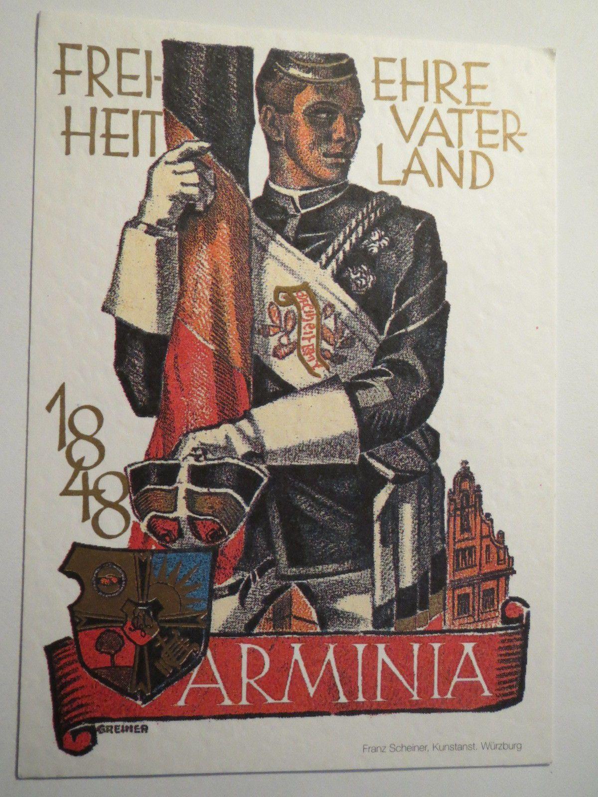 Würzburg Burschenschaft Arminia Wappen Chargierter Studentika | eBay ...
