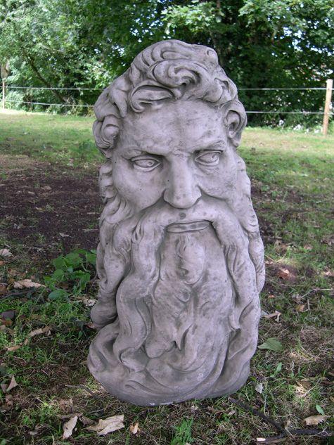 Etonnant Head Of Zeus Greek Garden Ornament Statue