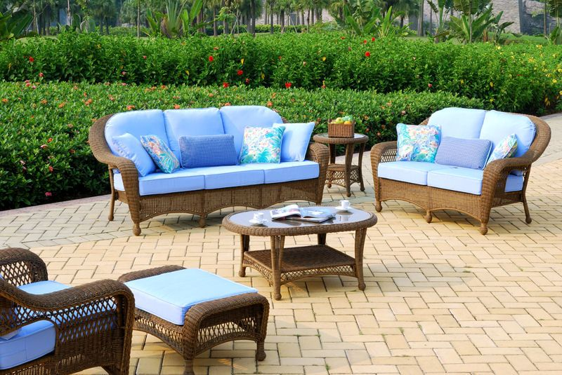 Superior The Savannah Patio Furniture Group Is Made Of High Density Polyethylene  Synthetic Wicker All Weather Resin Over Aluminum Frame.