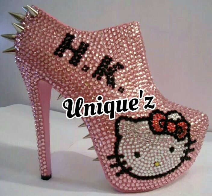 Hello Kitty Spiked/Rhinestone Ankle Booties (BAD KITTY) by UniquezBlingQueenz on Etsy https://www.etsy.com/listing/229772243/hello-kitty-spikedrhinestone-ankle