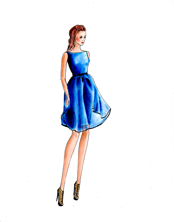 Glam Dresses-Greeting Card Project on Behance