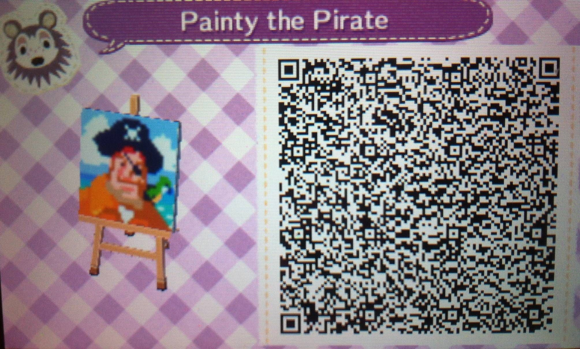 Spongebob Pirate Picture Animalcrossing Animal Crossing Qr