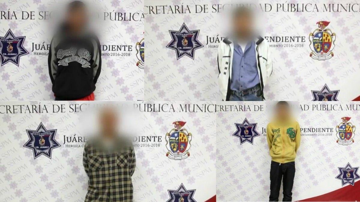 Detienen a 4 narcomenudistas en diferentes puntos de Ciudad Juárez | El Puntero