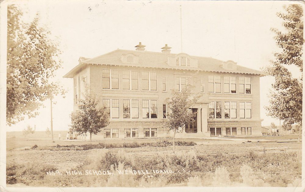 RP: WENDELL, Idaho, 1930's; High School