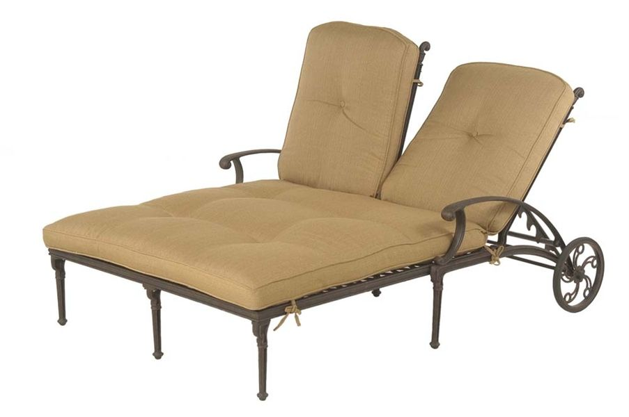 Hanamint Outdoor Double Chaise Lounge With Wheel Back Humble Abode