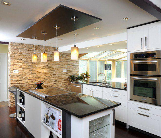 35 Ideias Para Ilhas Na Sua Cozinha: Foto: Top Dreamer #cozinha #ilha #bancada #textura #branca