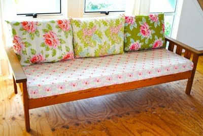 Like The Different Cushion Covers My Futon Would Look So Nice Like This Sofa Makeover Couch Makeover Decor