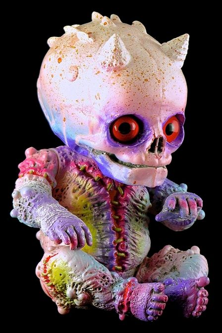 Trippy skull zombie baby doll...