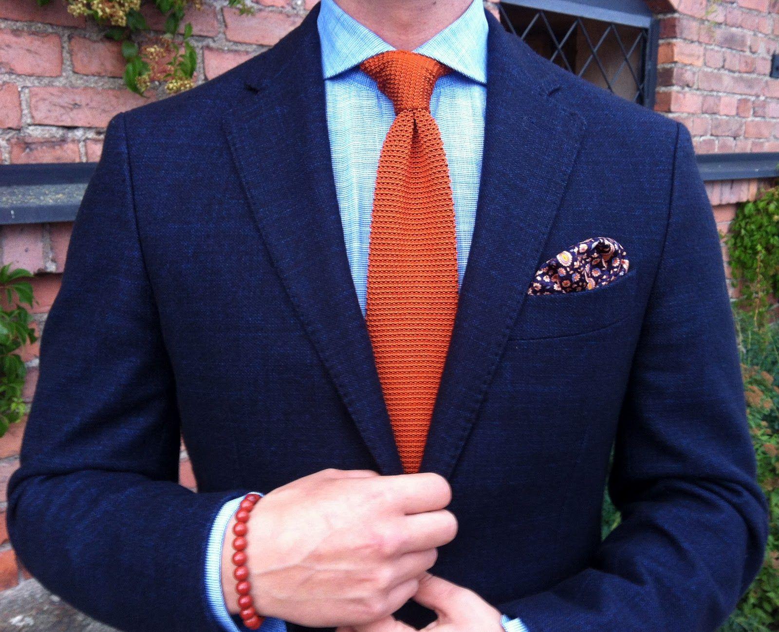 The Nordic Fit Knit Tie Blue Suit Blue Shirt Navy Suit [ 1299 x 1600 Pixel ]