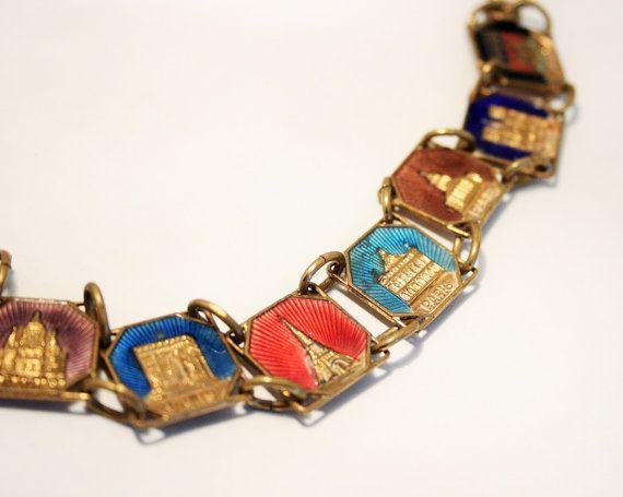 Vintage French souvenir tourist bracelet. by chicvintageboutique