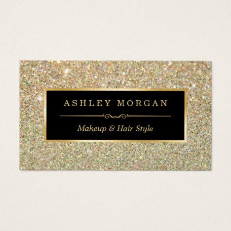 Makeup artist hair stylist funky gold glitter business card makeup artist hair stylist funky gold glitter business card businesscards zazzle business cards pinterest business cards and magnetic business cards reheart Choice Image