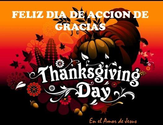 Feliz Dia De Accion De Gracias Thanksgiving Day Happy Thanksgiving Day Holiday Deco