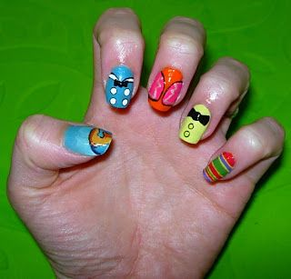 The Three Caballeros Nails