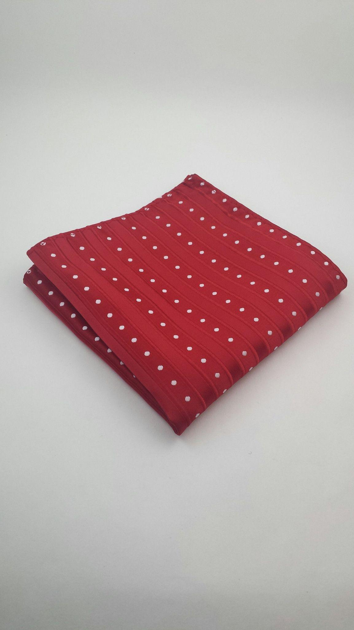 Red & White Pocket Square