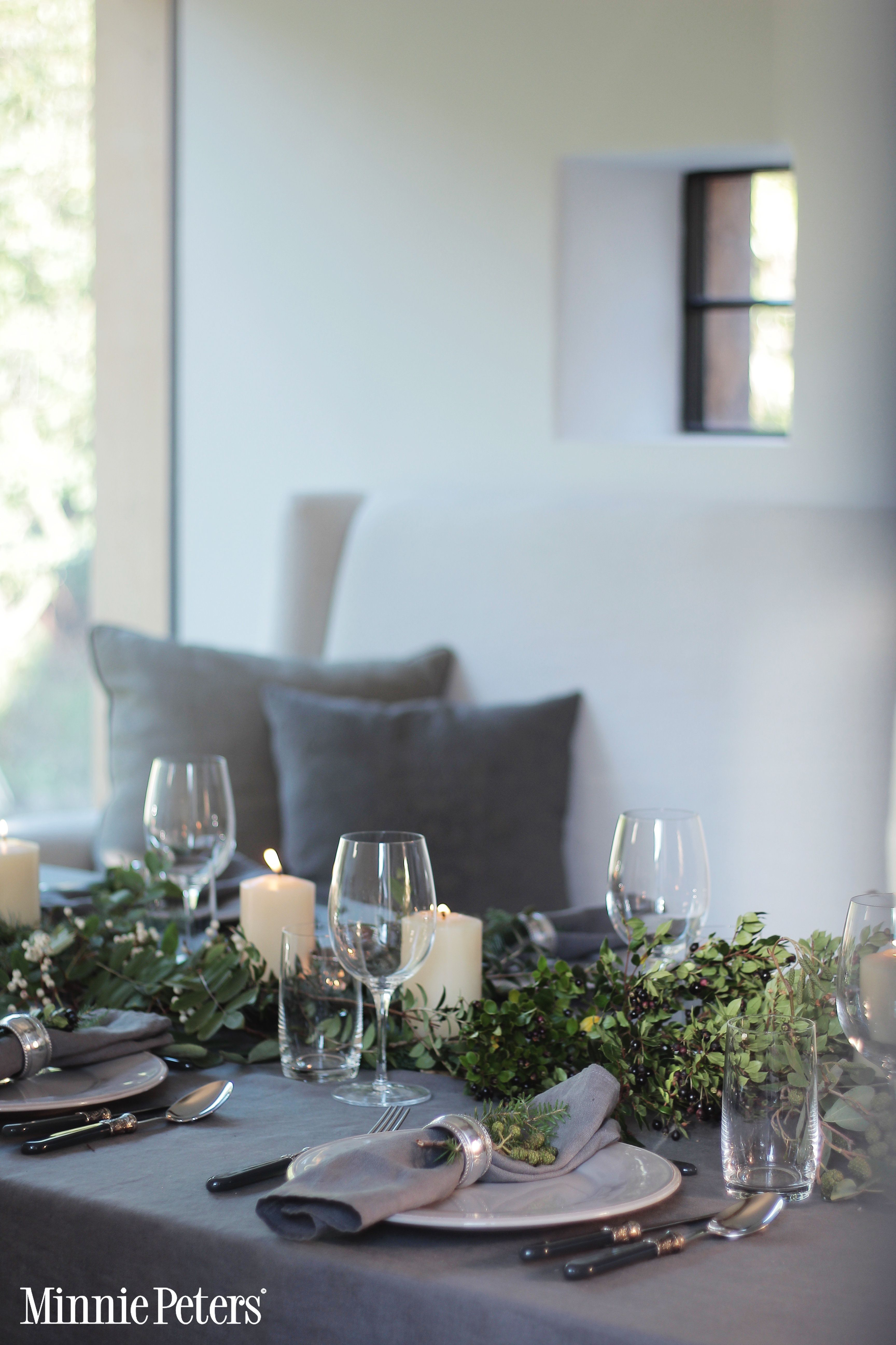 A Casual Christmas Christmas Table Settings Unique Christmas Decorations Grey Table