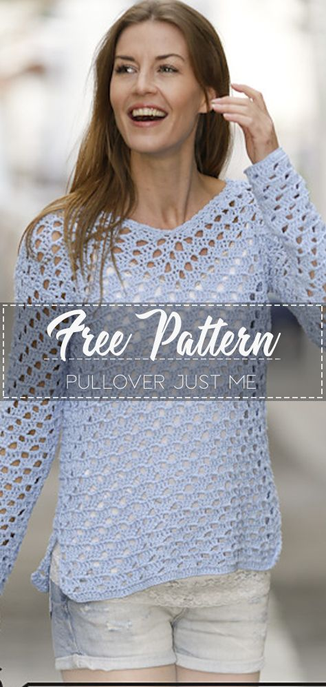 Pullover Just Me – Pattern Free – Easy Crochet