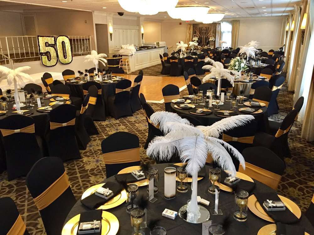 Great gatsby birthday party ideas 50 birthday parties for 50 birthday party decoration ideas