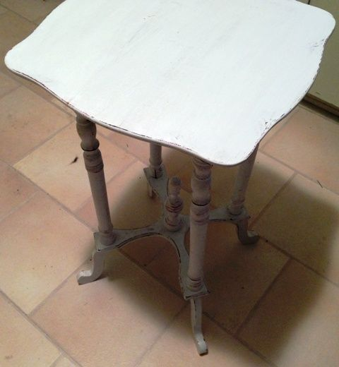 """American Companies That Buys Furniture From Switzerland: Lovely Antique Plant Stand Painted APC """"Spacious Skies"""