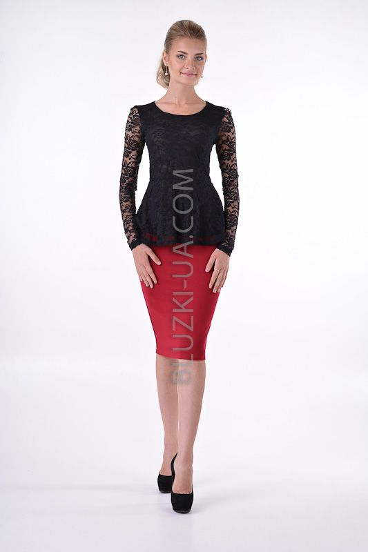 ffb99e46622 Нарядная кружевная ( гипюровая) блузка с баской без воротника с  соблазнительными кружевными рукавами