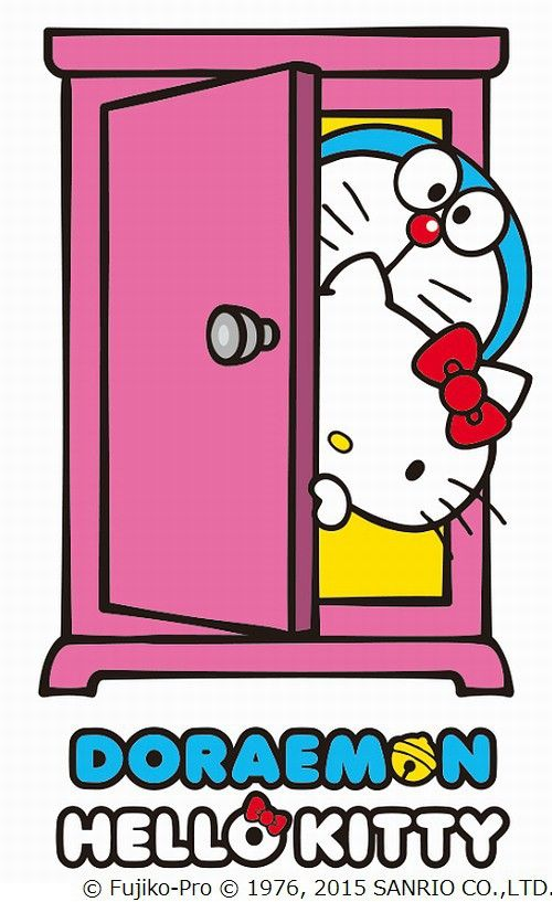 Wallpaper Doraemon Dan Hello Kitty