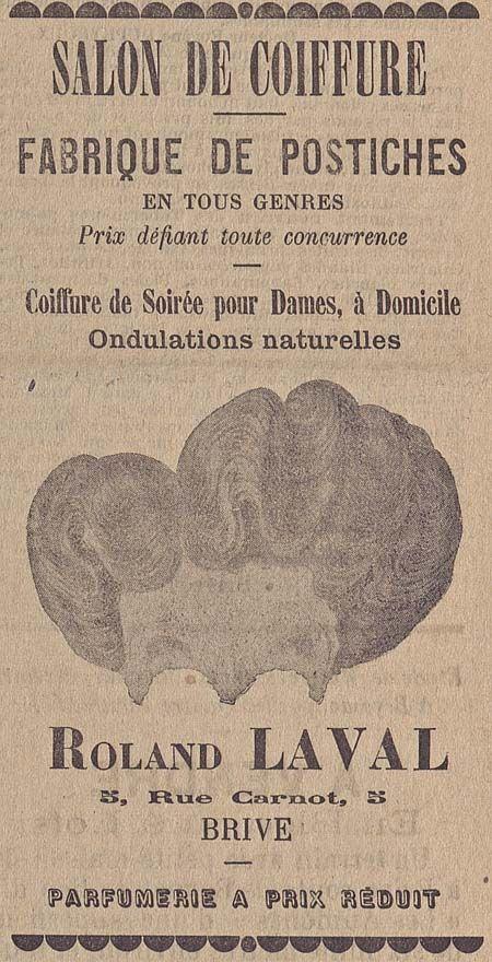 Salon De Coiffure Fabrique De Postiches En Tous Genres La Republique 1911 Bfm Limoges Postiche Coiffure Soiree Salon De Coiffure