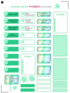 Free St Patrick's Day Fun Planner Sticker Template, Free Planner ...