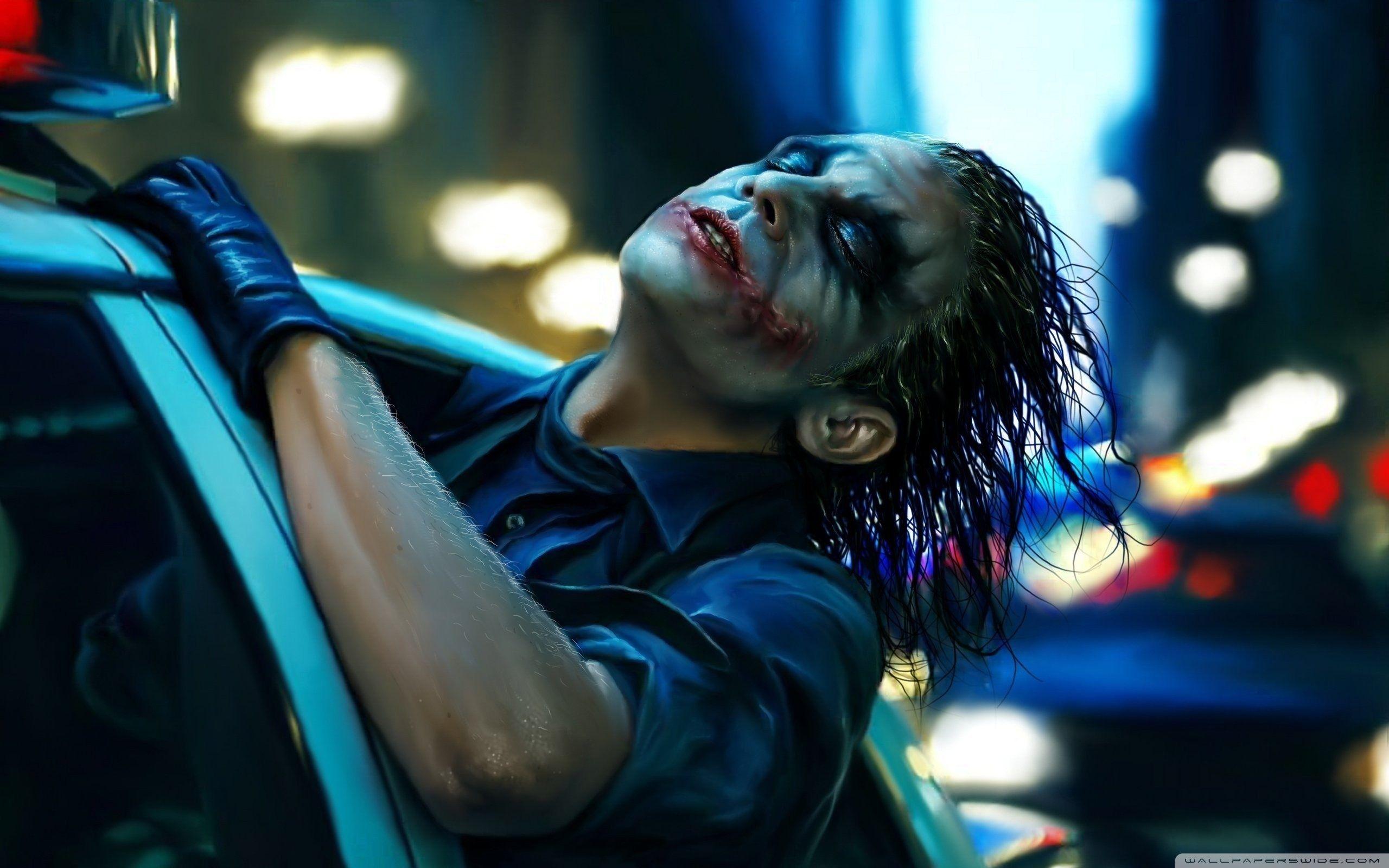 The Joker Painting Wallpaper Full Hd 2560x1600 Joker Hd